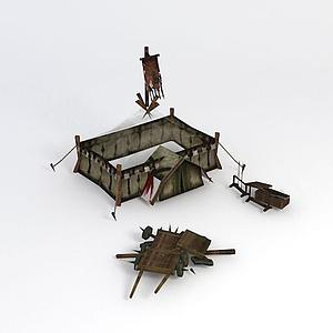 戰場兵器架帳篷模型
