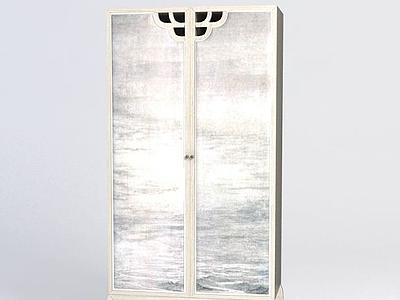 木質衣柜3d模型