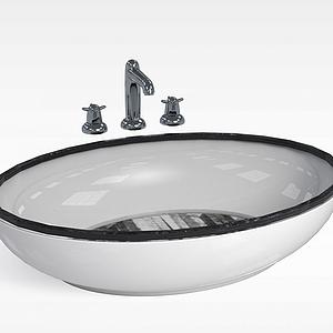 圓形洗手臺盆模型