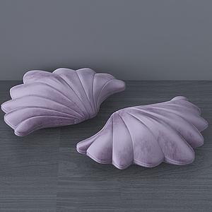 現代貝殼抱枕裝飾模型