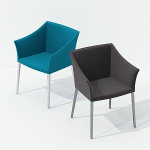現代簡約方椅模型