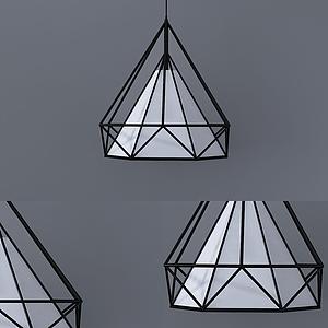 現代多面型吊燈模型