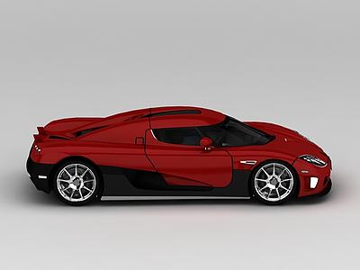 紅色跑車模型