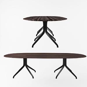 現代八腳桌休閑桌模型