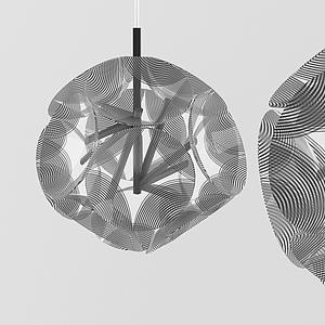 現代條紋球狀吊燈模型
