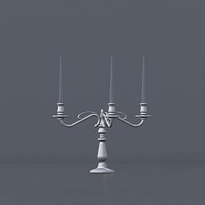 歐式復古蠟臺蠟燭燈模型
