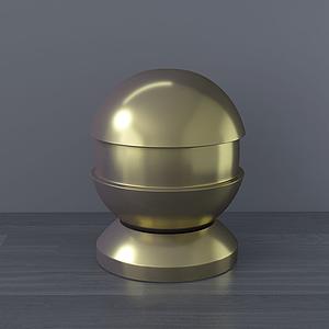 現代桌面擺件金球模型