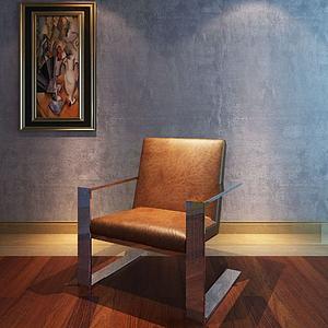 沙发椅吊灯组合模型