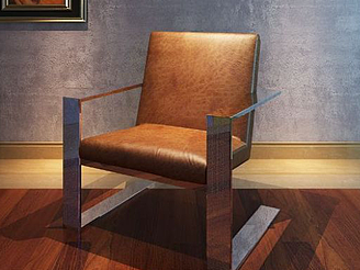 沙發椅吊燈組合模型