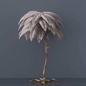 現代裝飾椰樹落地燈模型