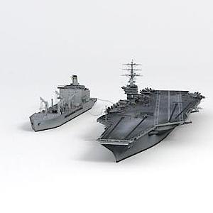 尼米茲號航母艦隊油船模型