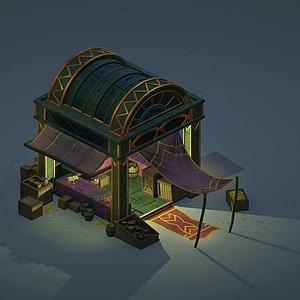 游戲場景房屋模型