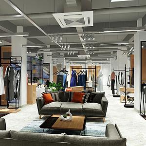 工業風格服裝店模型