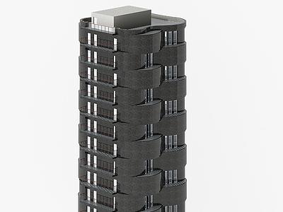 3d現代<font class='myIsRed'>辦公樓</font>建筑模型