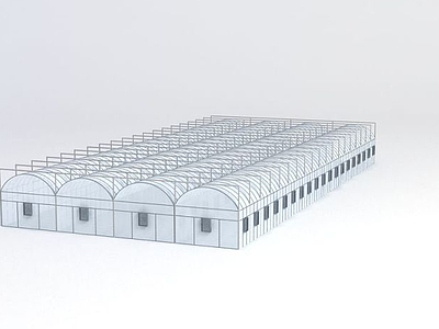 3d陽光棚模型