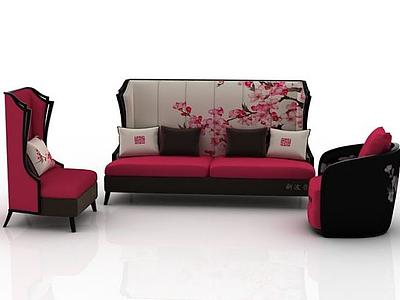 組合沙發3d模型