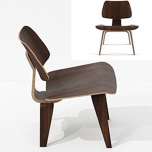 北歐簡約單椅模型