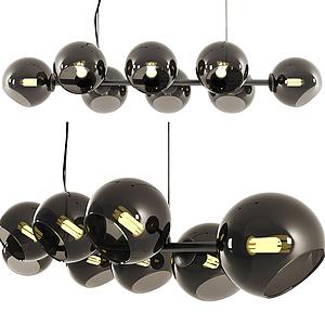 現代多球式吊燈模型