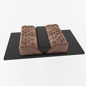 現代換鞋凳模型
