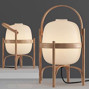 現代飯壺式臺燈模型