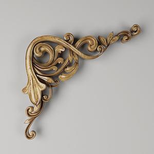 現代木質裝飾配件模型