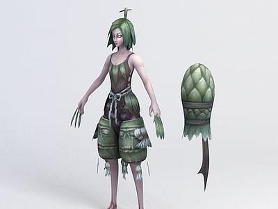 3d風暴英雄女巫模型