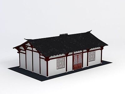 3d古建房子模型