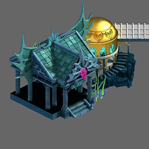 3d游戲場景<font class='myIsRed'>房子</font>模型