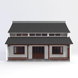 3d古建<font class='myIsRed'>房子</font>模型