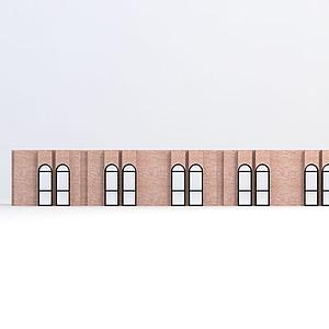 歐式窗戶模型