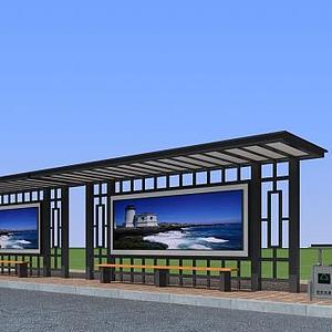 公交候車站模型