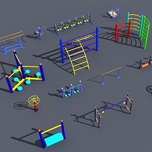 健身運動鍛煉器材模型