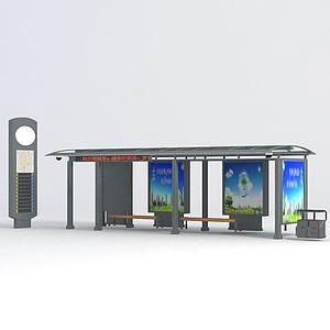 公交候車亭模型