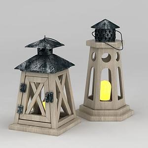 地中海地燈模型