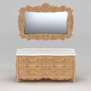 歐式古典浴室柜模型