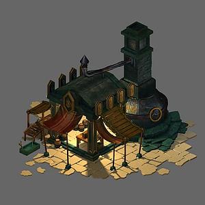 铁匠铺3d模型