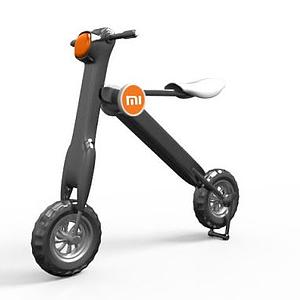 兩輪代步折疊電動車模型