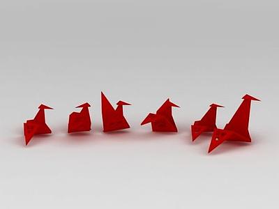 紙鶴模型3d模型