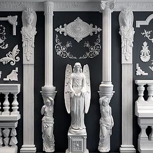 歐式雕花羅馬柱模型