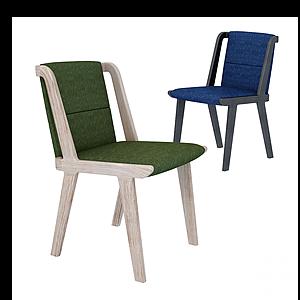 現代拼接休閑椅模型