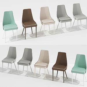 現代居家休閑椅組合模型