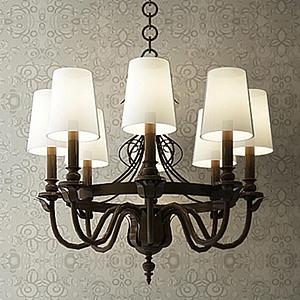 歐式燈罩吊燈模型