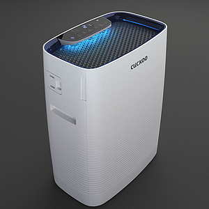 3d現代機器空氣凈化器模型