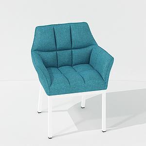 現代休閑家居椅面包椅模型
