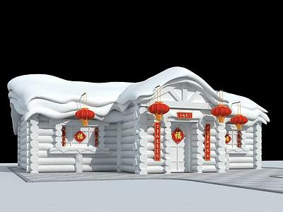 3d雪雕模型