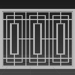 中式窗戶模型