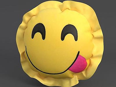 笑臉抱枕3d模型