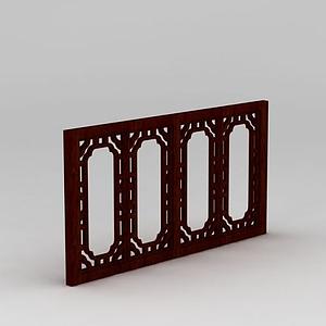 古典中式窗戶模型