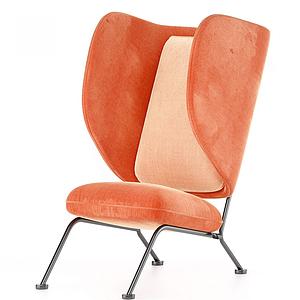 后現代個性休閑椅模型