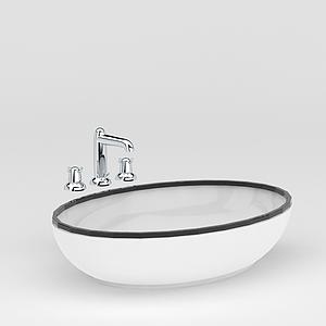 浴室洗臉盆模型